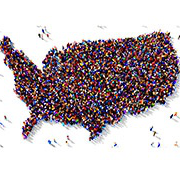 US Map - made of people